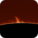 Sol in H⍺ - 9 June 2021 - Prominence South West limb.,                                hughsie