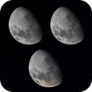The Moon - monochrome, colour and enhanced colour,                                Niall MacNeill