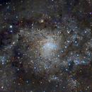 Centro de M33  con un poco de color,                                joperenclo