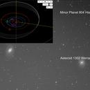 Minor Planet 804 Hispania identified in M95/M96 image,                                Eric Coles (coles44)