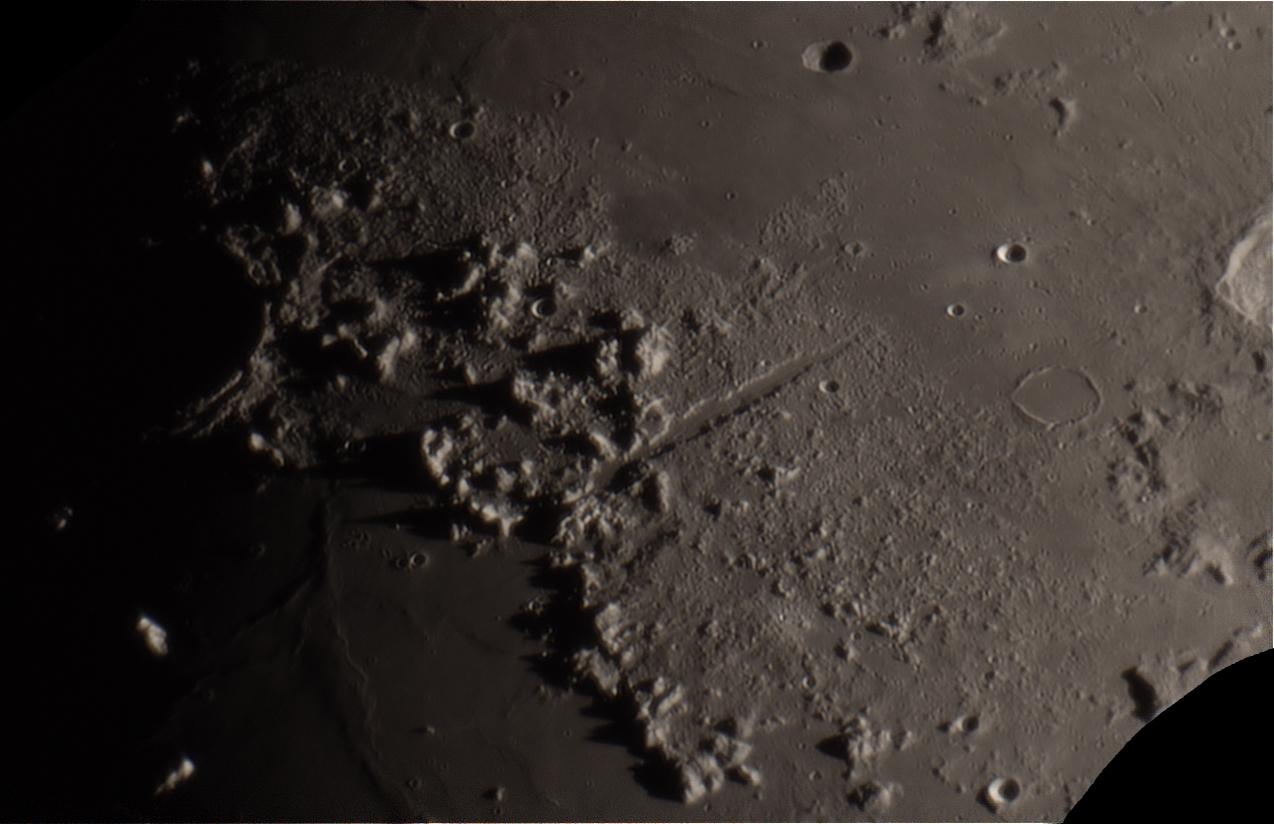 Vallis Alpes and Montes Alpes,                                evan9162