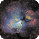 Swan nebula revisited at 780mm FL in SHO,                                robonrome