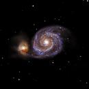 The whirlpool galaxy M51 (no filters) 2800 fl,                                Deddy Dayag