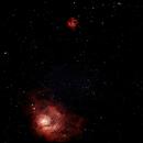 lagoon and trifid nebula,                                Blue Moon Observatory