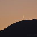 Young Moon sets over Bald Mountain ,                                hbastro