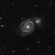 M51 - 20200519 - Meade 2045D F4,                                altazastro