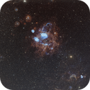NGC 1760 H-alpha-Oxygen lll Bi-color Image, with RGB Stars,                                Eric Coles (coles44)