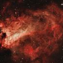 Swan Nebula (M17)bicolour HOO,                                Stuart Goodwin