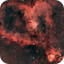 IC 1805 Heart Nebula through L-eNhance,                                JohnAdastra