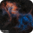 Sharpless2-132  -  THe Lion Nebula   SHO,                                Paul Borchardt