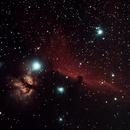 Nebulae near Alnitak (horsehead and friends),                                keving