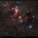 SH-2 155 Cave Nebula in Cepheus (RGB),                                Mike Oates