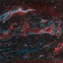 Veil Nebula HORGB - Deep Sky West Remote Observatory,                                Deep Sky West (Ll...