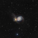 Messier 51 - the Whirlpool Galaxy,                                Elisabeth Milne