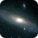 The Andromeda Galaxy (M31) with companion galaxies M32 and M110,                                astromaverick