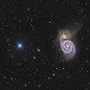 M51 - LRGB,                                Martin Dufour