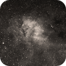 Sh2-132 (The Lion Nebula) in H-alpha narrowband,                                HaSeSky