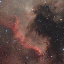 NGC7000 with DSLR+Ha+OIII,                                Jenafan