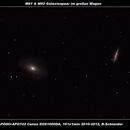 M81 & M82 Galaxienpaar im großen Wagen,                                Berthold Schneider