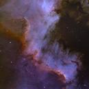 The Cygnus Wall in SHO - NGC7000,                                Martin Dufour