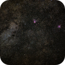 M24, Eagle and Omega Nebula,                                lhutton