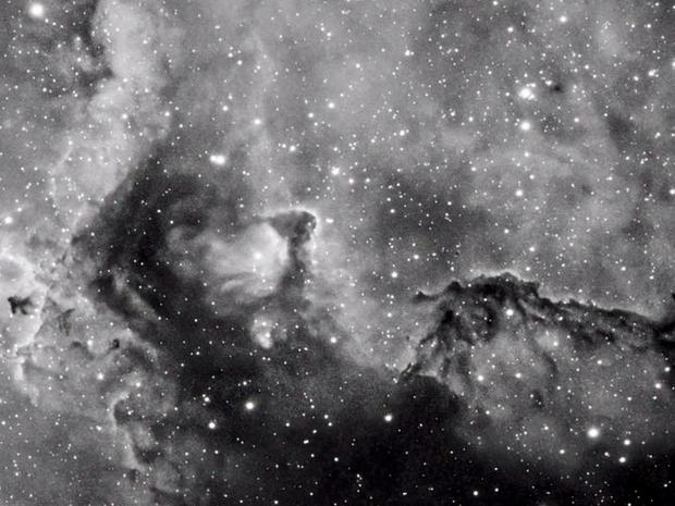 Soul Nebula in Ha- closeup,                                Mike