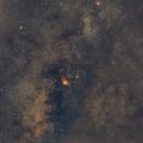 Région M8-M20 Voie lactée,                                Vincent.H