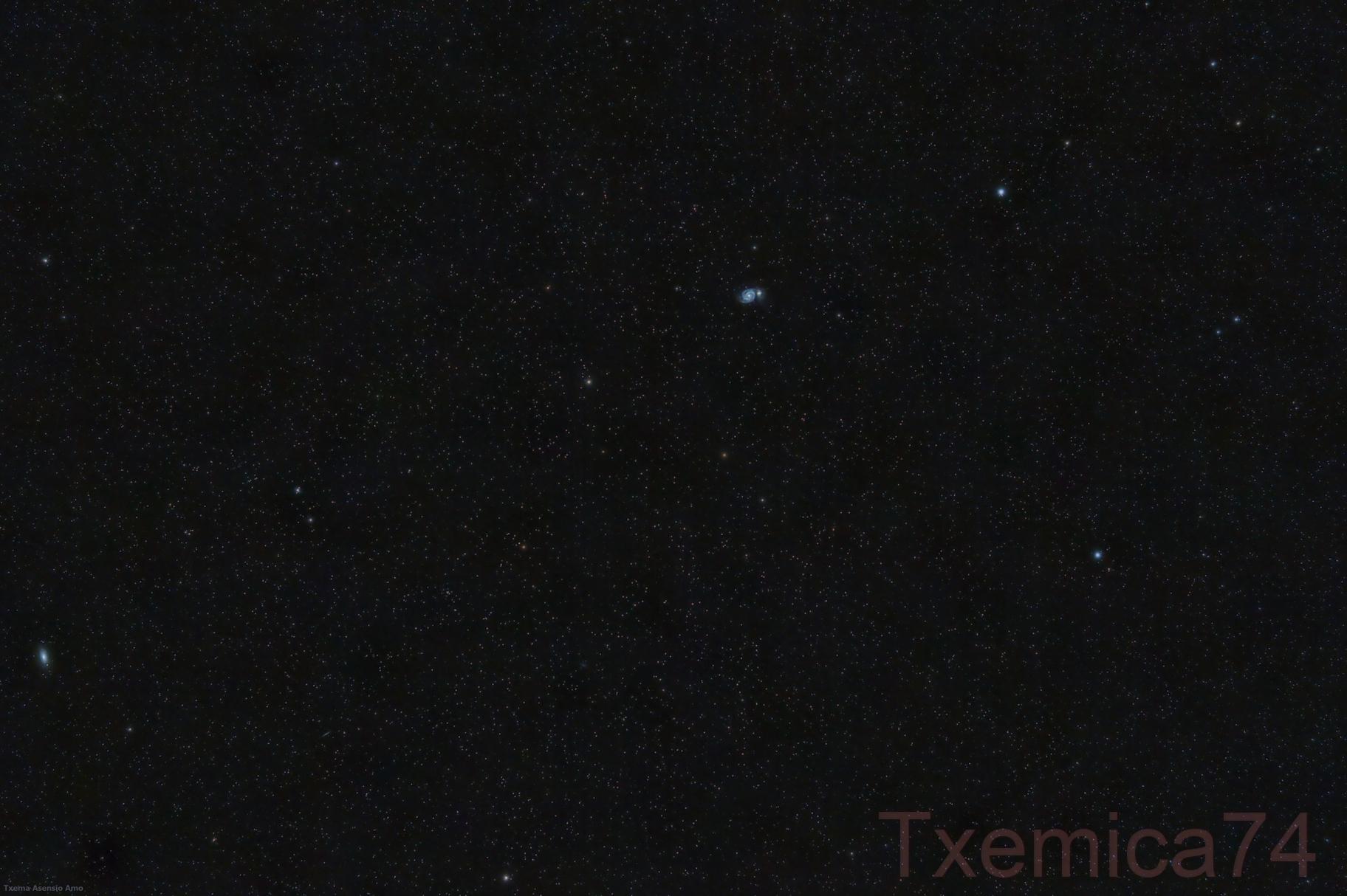 M-51 Whirlpool Galaxy, M-63 Sunflower,                                Txema Asensio