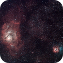 M8 & M20 - The Lagoon and Trifid Nebulae (L-RGB),                                Olivier Ravayrol
