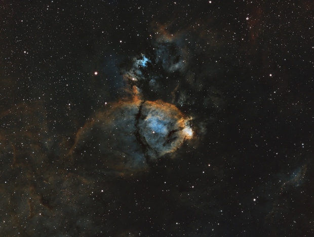 IC 1795 FishHead Nebula SHO Palette,                                Drew Hastings