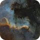 NGC 7000 Cygnus Wall and LDN 935 in SHO,                                Victor Van Puyenb...