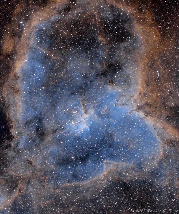 IC1805 - Heart Nebula in SHO (3 data sets),                                Richard Bratt