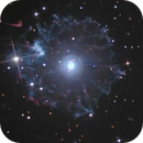 NGC 6543 - Cat's Eye Nebula : core and extensions,                                Jeffbax Velocicaptor