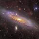 M31 and clouds around it,                                Amir H. Abolfath