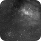 NGC7635 bubble nebula M52 open cluster H-alpha,                                antares47110815