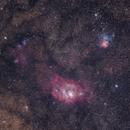 Lagoon & Trifid Nebula,                                thakursam