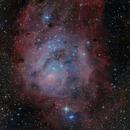 M8 and M20 Lagoon and Trifid Nebulas,                                Michel Lakos M.