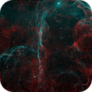 Vela Supernova Remnant in Ha/OIII bicolor,                                John Ebersole
