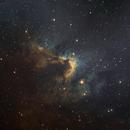 Cave Nebula in SHO,                                chuckp