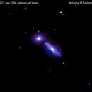 ngc3227  + ngc3226   galassie nel leone                                               distanza 65 milioni  A.L.,                                Carlo Colombo