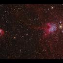 IC417 & NGC1931 - The spider & fly HaRGB,                                Göran Nilsson