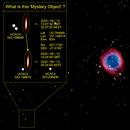 NGC-7293 = Helix Nebula + Mystery Object,                                Gary JONES