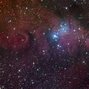 Ngc2264 Cone & Christmas & Fox Fur Nebulas Halrgb,                                Themis Karteris