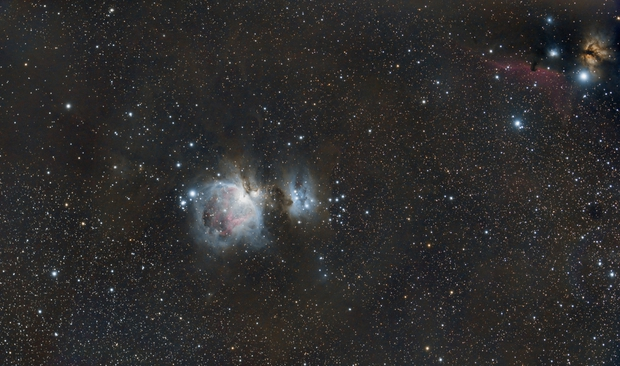 Messier 42 - ic434,                                Le Mouellic Guill...