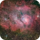 Lagoon Nebula (Messier 8, LRGB),                                Miles Zhou