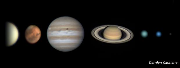 Solar System Portrait (minus Mercury),                                Damien Cannane