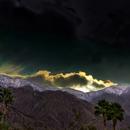 Waning Gibbous Moon Setting in San Ysidro Mountains,                                Tom Robbe