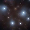 Pleiades, Six of Seven Sisters (M45) in LRGB,                                Jose Carballada