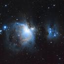 Orion Nebula,                                Blueslikehail