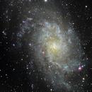 M33 - Galaxie du Triangle - LRGB,                                BLANCHARD Jordan